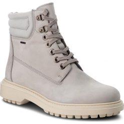 Trapery GEOX - A Asheely Np Abx C D84AYC 00032 C1010 Lt Grey. Szare buty zimowe damskie Geox, z nubiku. W wyprzedaży za 489,00 zł.