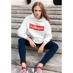 Bluzy damskie: Biało-Czerwona Bluza All-Round