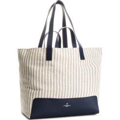 Torebka WEEKEND MAXMARA - Lazzaro 551109846 Navy 004. Brązowe torby plażowe marki WEEKEND MaxMara, z materiału. W wyprzedaży za 579,00 zł.