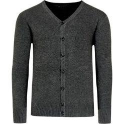 Swetry rozpinane męskie: Kardigan w kolorze ciemnoszarym