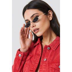 Okulary przeciwsłoneczne damskie: NA-KD Trend Owalne okulary przeciwsłoneczne retro – Black