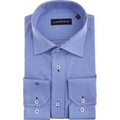 Koszula Glafira. Niebieskie koszule męskie na spinki marki LANCERTO, na lato, m, z dzianiny. W wyprzedaży za 149,90 zł.