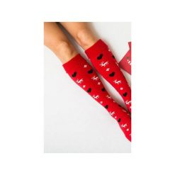 Ciepłe Skarpetki Renifery MAD Socks 36-40. Szare podkolanówki Mad socks, z bawełny. Za 45,00 zł.