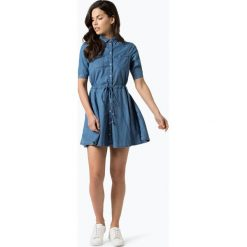 Pepe Jeans - Sukienka damska – Marta, niebieski. Niebieskie sukienki z falbanami marki Pepe Jeans, l, z jeansu, z kołnierzem typu klepsydra. Za 349,95 zł.