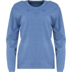 Niebieski Sweter Marry The Night. Niebieskie swetry klasyczne damskie Born2be, l, z okrągłym kołnierzem. Za 69,99 zł.