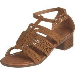 Rzymianki damskie: Sandały w kolorze karmelowym