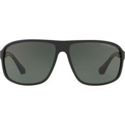 Emporio Armani - Okulary 0EA4029. Brązowe okulary przeciwsłoneczne męskie Emporio Armani, z materiału, prostokątne. Za 519,90 zł.