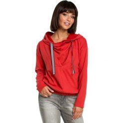 Czerwona Krótka Oryginalna Bluza z Kapturem. Czerwone bluzy z kapturem damskie marki KALENJI, z elastanu, z krótkim rękawem, krótkie. Za 139,90 zł.