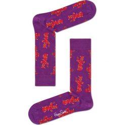 Happy Socks - Skarpety Cactus. Fioletowe skarpetki męskie Happy Socks, z bawełny. W wyprzedaży za 29,90 zł.