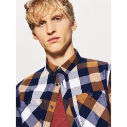 Koszula w kratę - Brązowy. Niebieskie koszule męskie marki House, m. Za 79,99 zł.