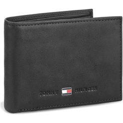 Duży Portfel Męski TOMMY HILFIGER - Johnson Mini Cc Flap And Coin Pocket AM0AM00662/82568 Black 002. Czarne portfele męskie marki TOMMY HILFIGER, z nubiku. Za 249,00 zł.