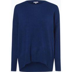 Marie Lund - Damski sweter z wełny merino, niebieski. Niebieskie swetry klasyczne damskie Marie Lund, l, z dzianiny. Za 249,95 zł.