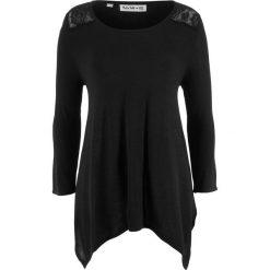 Swetry klasyczne damskie: Sweter z dłuższymi bokami i rękawami 3/4, z kolekcji Maite Kelly bonprix czarny