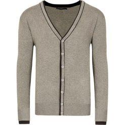 Swetry rozpinane męskie: Kardigan w kolorze ciemnobeżowym
