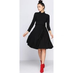 Czarna Sukienka Forever. Czarne sukienki hiszpanki Born2be, s, z elastanu, midi. Za 89,99 zł.