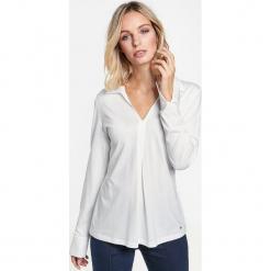 Koszulka polo z satynowym obszyciem. Brązowe bluzki asymetryczne GERRY WEBER EDITION, z satyny, eleganckie, polo, z długim rękawem. Za 229,00 zł.