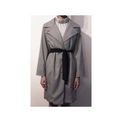 Jesienny płaszcz MY DREAM BLACK&WHITE. Białe płaszcze damskie pastelowe TRUE COLOR by Ann, na jesień, l, z wełny, klasyczne. Za 699,00 zł.