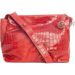 Torebki klasyczne damskie: Skórzana torebka w kolorze czerwonym – 30 x 27 x 13 cm