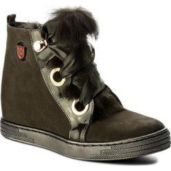 Sneakersy damskie: Sneakersy ROBERTO – 594 Zielony Nubuk