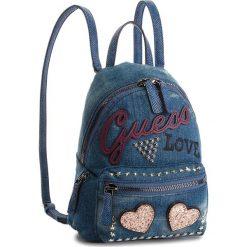 Plecak GUESS - HWED71 09310 DEN. Niebieskie plecaki damskie Guess, z aplikacjami, z materiału. Za 559,00 zł.