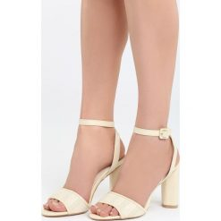 Beżowe Sandały Third Party. Brązowe sandały damskie na słupku marki Born2be, z materiału, na wysokim obcasie. Za 89,99 zł.