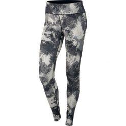 Nike Spodnie damskie W Power Essential Running Tight czarno-biało-szare r. L (848004 010). Czarne spodnie sportowe damskie marki Nike, xs, z bawełny. Za 135,11 zł.