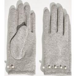 Rękawiczki damskie: Dzianinowe rękawiczki - Szary