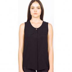 Bluzka jedwabna w kolorze czarnym. Czarne bluzki nietoperze marki Ateliers de la Maille, z jedwabiu, z okrągłym kołnierzem. W wyprzedaży za 227,95 zł.