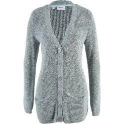 Sweter rozpinany z kieszeniami bonprix biel wełny ´- morski pastelowy melanż. Szare kardigany damskie marki Reserved, l. Za 59,99 zł.