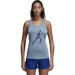 Koszulka biegowa damska ADIDAS STORY TANK W RAWGRE / DJ1642. Niebieskie bluzki damskie marki 4f, s. Za 99,00 zł.