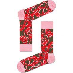Happy Socks - Skarpetki Marble. Różowe skarpetki damskie Happy Socks, z bawełny. W wyprzedaży za 29,90 zł.