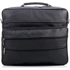 Czarna skórzana torba męska na ramię ABRUZZO MARTEL. Czarne torby na ramię męskie Abruzzo, w paski, ze skóry, na ramię. Za 129,90 zł.