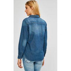 Pepe Jeans - Koszula. Szare koszule jeansowe damskie Pepe Jeans, l, casualowe, z klasycznym kołnierzykiem, z długim rękawem. W wyprzedaży za 279,90 zł.