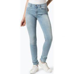 Marc Cain Collections - Jeansy damskie, niebieski. Niebieskie spodnie z wysokim stanem Marc Cain Collections, z jeansu. Za 549,95 zł.