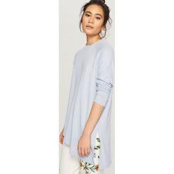 Bluzki, topy, tuniki: Asymetryczna koszulka – Niebieski