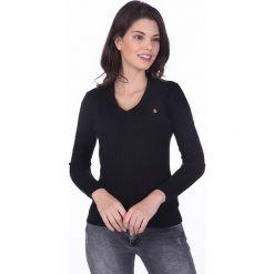 """Swetry klasyczne damskie: Sweter """"Gullane"""" w kolorze czarnym"""