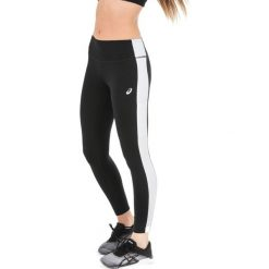 Spodnie damskie: Asics Legginsy damskie 7/8 Tight czarno-białe r. M (14112994)