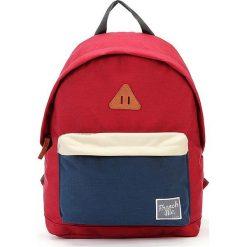 Plecaki męskie: Plecak w kolorze czerwono-granatowym – 29 x 40 x 14 cm