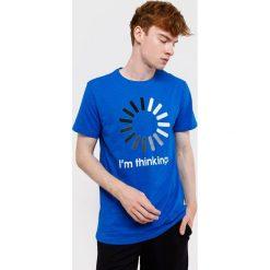 Męski T-shirt MF Blue. Niebieskie t-shirty męskie z nadrukiem marki Astratex, m, z bawełny. Za 49,99 zł.