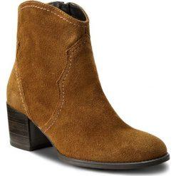 Botki TAMARIS - 1-25750-29 Cuoio 455. Brązowe buty zimowe damskie Tamaris, z materiału. W wyprzedaży za 179,00 zł.