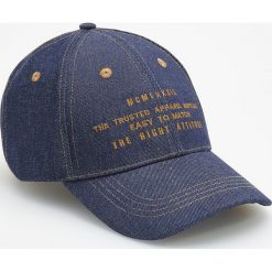 Jeansowa czapka z daszkiem - Granatowy. Niebieskie czapki męskie Reserved, z jeansu. Za 39,99 zł.