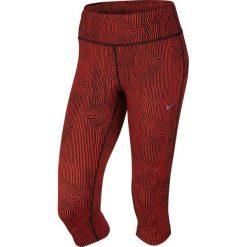 Legginsy sportowe damskie: Nike Legginsy Zen Epic Run Capri czerwony r. M (719809 696)