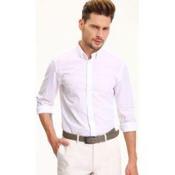 KOSZULA DŁUGI RĘKAW MĘSKA SLIM FIT. Szare koszule męskie na spinki Top Secret, na lato, m, z długim rękawem. Za 44,99 zł.
