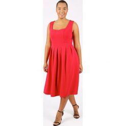 Sukienki: Długa, gładka plisowana sukienka bez rękawów