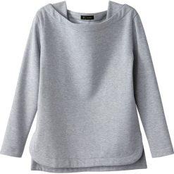 Bluza z rozcięciami po bokach. Szare bluzy damskie marki La Redoute Collections, m, z bawełny, z kapturem. Za 127,64 zł.