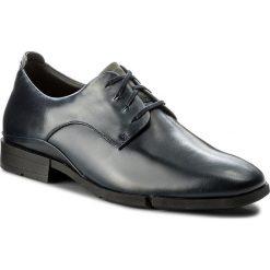 Półbuty CLARKS - Daulton Walk 261269397 Dark Blue Lea. Niebieskie buty wizytowe męskie Clarks, z materiału. W wyprzedaży za 279,00 zł.