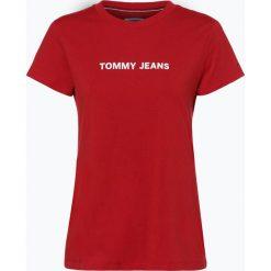 Tommy Jeans - T-shirt damski, czerwony. Czerwone t-shirty damskie marki Tommy Jeans, m, z jeansu. Za 99,95 zł.