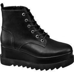 Botki damskie Catwalk czarne. Czarne botki damskie lity Catwalk, z materiału. Za 159,90 zł.