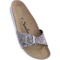 """Chodaki damskie: Klapki """"Jasmin"""" w kolorze srebrno-jasnoróżowym"""