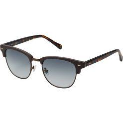 Fossil Okulary przeciwsłoneczne matt brown. Brązowe okulary przeciwsłoneczne męskie wayfarery marki Fossil. Za 419,00 zł.